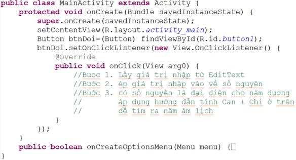 Bài tập 8: Các kiểu lập trình sự kiện trong Android   Advanced