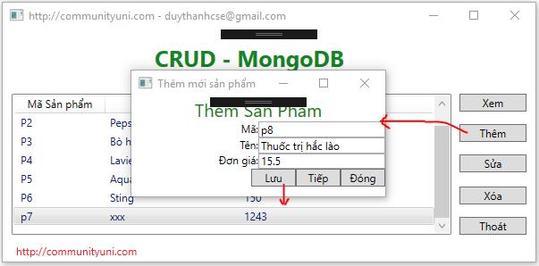 Bài 10-Thêm dữ liệu vào MongoDB trong C#-WPF